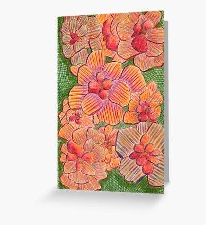 65 - FLOWERS - DAVE EDWARDS - COLOURED PENCILS - 1996 Greeting Card