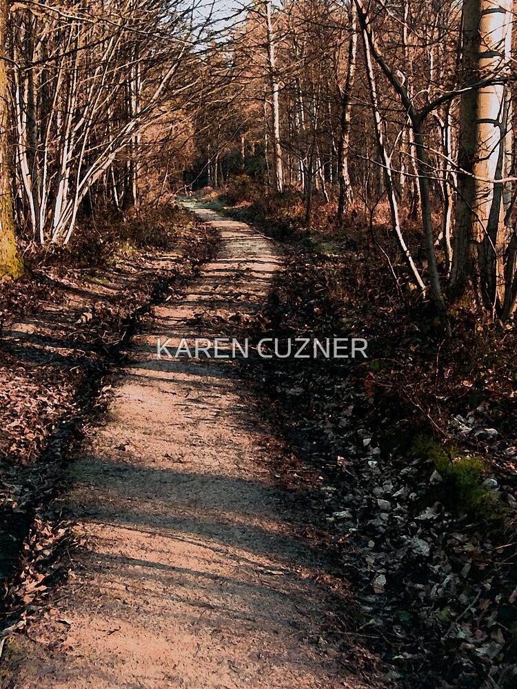 wood scene by KAREN CUZNER