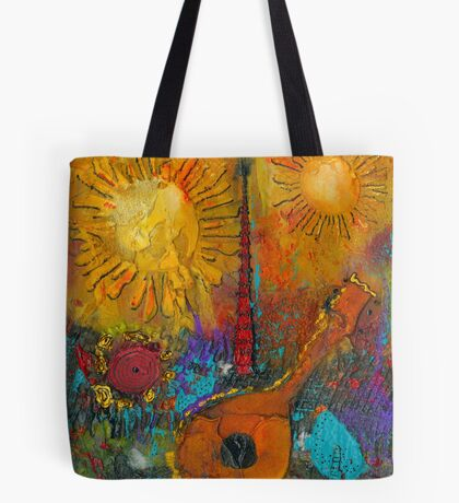 The Banjo and The Tambourine Tote Bag