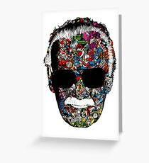 """Stan Lee """"Man of many faces"""" Greeting Card"""