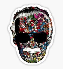 "Stan Lee ""Man of many faces"" Sticker"