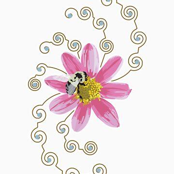 Bee on Flower by juliakapp