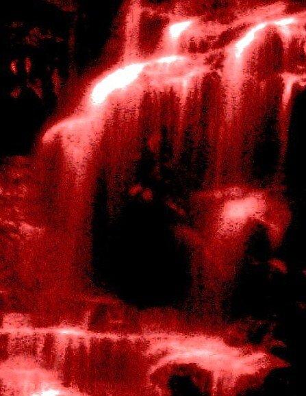 Foggy waterfalls by mel1forjon