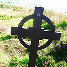 Celtic Cross at Grianan of Aileach, Donegal, Ireland by Shulie1