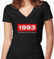 1993 Birthday Gift Idea Women's Fitted V-Neck T-Shirt