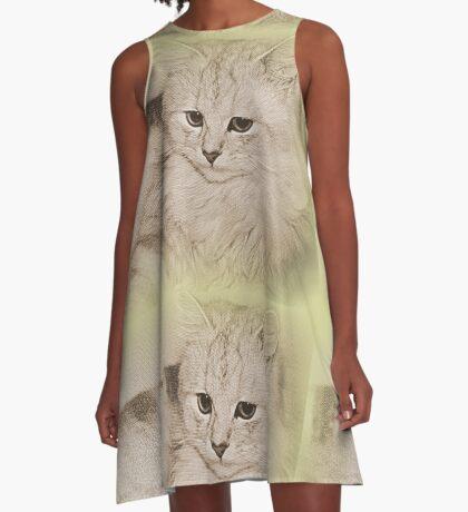 Erinnerungen an meine Kitty A-Linien Kleid