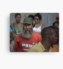 Fidel lookalike, Havana Canvas Print