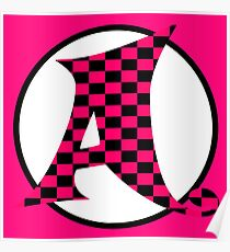 Whimsical Monogram Letter A Typography Art Poster
