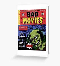 Zombie Movie Marathon Announcement  Greeting Card