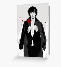 Sherlock BBC Greeting Card