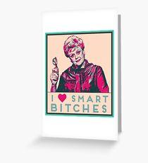 I heart smart b****es like JB Fletcher  Greeting Card