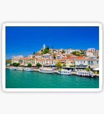 Beautiful view on greek island Poros Sticker