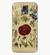 Botanical print, on old book page - flowers Case/Skin for Samsung Galaxy
