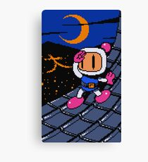 Panic Bomber W - Rooftop ☽ 大 Canvas Print
