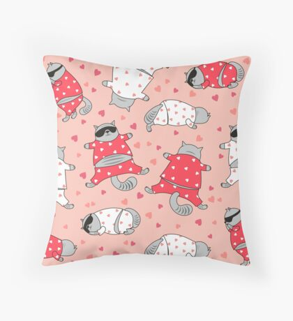 Relaxed Cats #RBSTAYCAY Throw Pillow