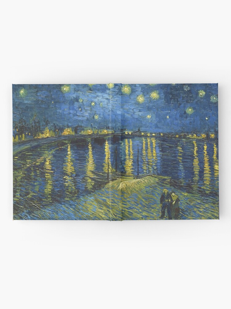 Alternate view of Starry Night on the Rhone by Vincent van Gogh (Sept. 1888) Hardcover Journal