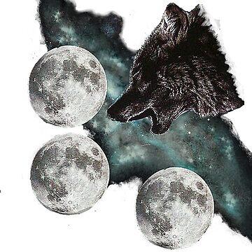 Three moon wolf by AlexzMercury