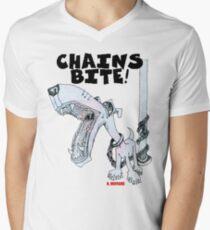 Chains Bite - Dogs Deserve Better Men's V-Neck T-Shirt