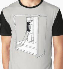 Old School Phone Booth Graphic T-Shirt