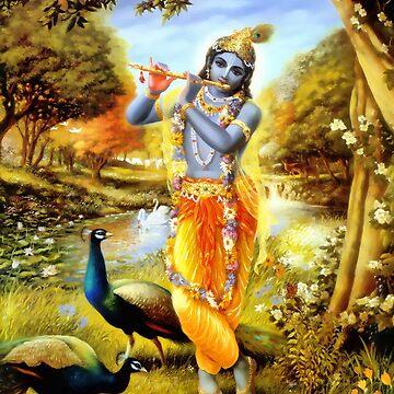 Yoga Pants Bali Krishna by closeddoor