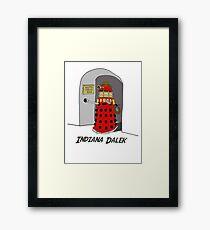 Indiana Dalek Framed Print