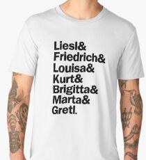 Sound of Music Characters | Black Men's Premium T-Shirt