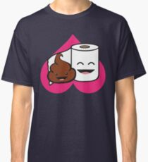 Poop and Toilet Paper Roll Classic T-Shirt