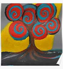 Recovery Tree ~ print of oil pastel portrait Poster