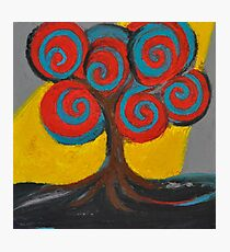 Recovery Tree ~ print of oil pastel portrait Photographic Print
