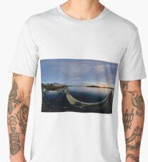 Dawn Calm at Foyle Marina, Derry, N.Ireland Men's Premium T-Shirt