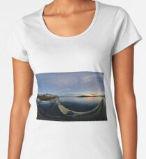 Dawn Calm at Foyle Marina, Derry, N.Ireland Women's Premium T-Shirt