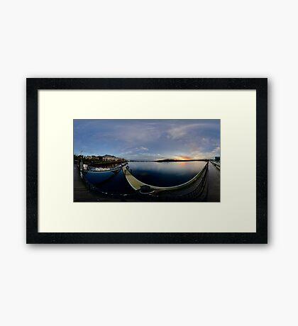 Dawn Calm at Foyle Marina, Derry, N.Ireland Framed Print
