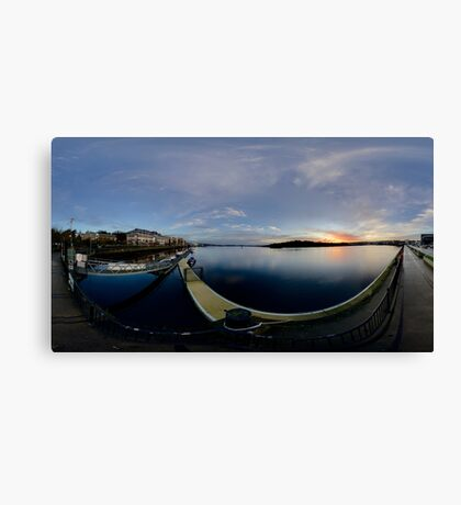 Dawn Calm at Foyle Marina, Derry, N.Ireland Canvas Print