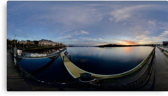 Dawn Calm at Foyle Marina, Derry, N.Ireland by George Row