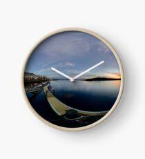 Dawn Calm at Foyle Marina, Derry, N.Ireland Clock
