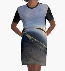 Dawn Calm at Foyle Marina, Derry, N.Ireland Graphic T-Shirt Dress