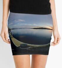 Dawn Calm at Foyle Marina, Derry, N.Ireland Mini Skirt
