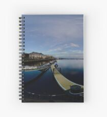 Dawn Calm at Foyle Marina, Derry, N.Ireland Spiral Notebook