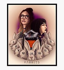 Rabbits Podcast Poster Photographic Print
