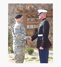 Army and Marines Unite Photographic Print
