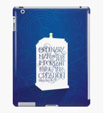 Dr. Who Ordinary Man iPad Case/Skin
