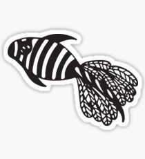 Black and white fish Sticker