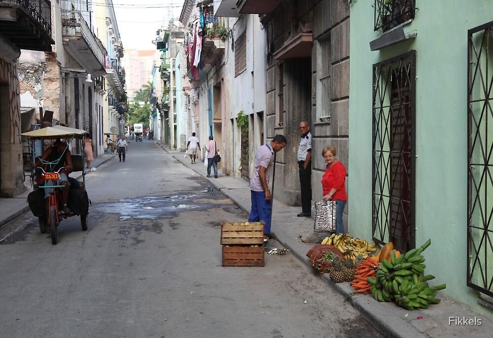 Street scene, Havana by Fikkels