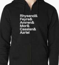The Night Court Squad (black) Zipped Hoodie