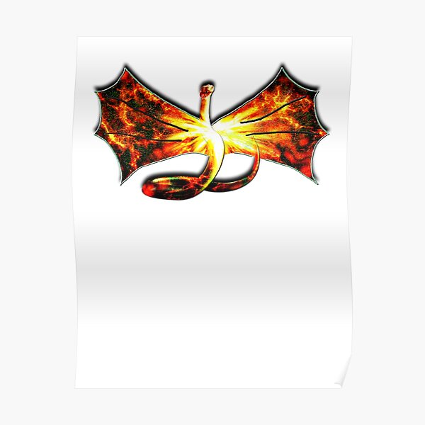 Fantasy Poster-Flagge Drache Gothik Dark Mystik Schlange Märchen Bild