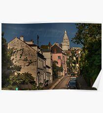 Paris - Montmartre Streetscape 002 Poster