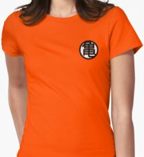 Dragon Ball Kame Symbol White Womens Fitted T-Shirt