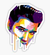 Elvis in Red Sticker