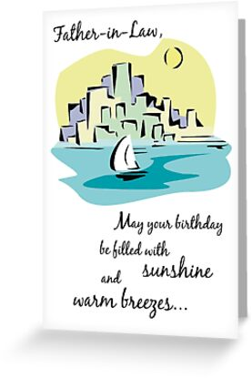 Father In Law Sailboat City Birthday