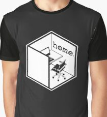 Cubicle Of Home Logo Funny Graphic T-Shirt